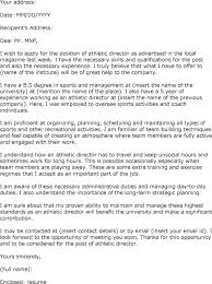 Director Cover Letter Sample Athletic Director Resume Summary Sample