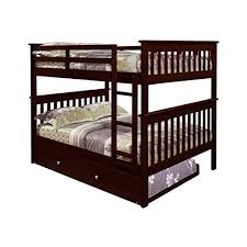 queen size bunk beds for adults. Unique Size Bunk Bed Full Over With Trundle In Cappuccino Throughout Queen Size Beds For Adults Q