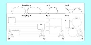 Story Template Beginning Middle End Story Planning Template Bellaroo Co