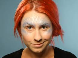 fishnet for mermaid makeup tutorial