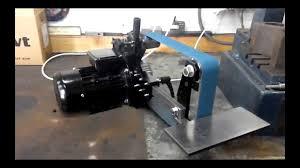 2x48 belt sander. belt grinder 2x48 подключенный от ЧП sander