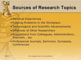 chapter the research problem  9 sources of research topics