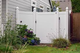 vinyl fence colors. Vinyl Fence Example In Dupont. Fences Are Easy To Maintain And Come A Colors