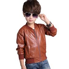 boys leather jacket big boy v collar faux pu leather motorcycle jacket zip moto coat 2018 winter for boy age 2 10 years winter jackets boys boys jacket