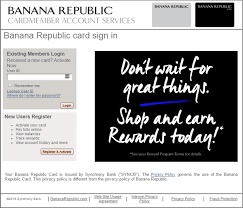 Www Bananarepublic Com Credit Card Login Credit Card Login