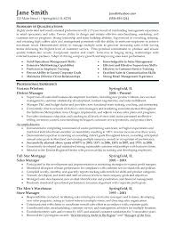 Resume Examples Retail Manager Example Sample Resume Retail Manager
