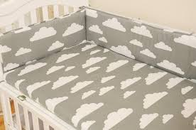 baby bed per 4pcs fitted sheet 1 pcs baby bedding set grey pink blue clouds