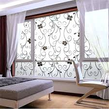 window covering frosted privacy cover glass wall sticker door black flower stickers adhesive home office decor x in from ideas