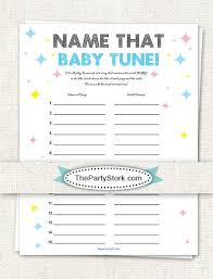 Name that Baby Tune Baby Shower Game