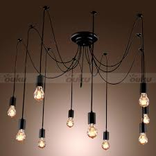 Edison Light Fixtures Canada Interior 10 Edison Light Bulb Chandelier Artistic Light
