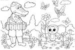 Раскраска мультик детский