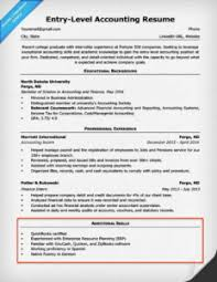 Example Accounting Resumes 100 Skills for Resumes Examples Included Resume Companion 49