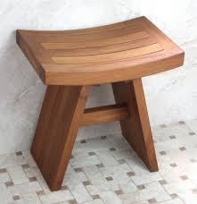 image of teak shower stool