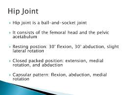 Hip Capsular Pattern Extraordinary Hip Overview Ppt Video Online Download