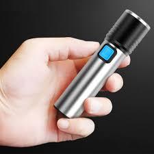 Đèn pin siêu sáng mini 3 chế độ sáng sử dụng sạc USB chống nước cao cấp nhỏ  gọn dễ dàng mang đi du lịch dã ngoại nhỏ gọn đa năng -
