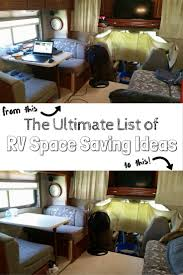 Most popular rv camper van decorating ideas Class The Ultimate List Of Rv Space Saving Ideas Almost 100 Rv Storage Ideas With The Wandering Rv 100 Rv Space Saving Ideas For Ultimate Rv Organization get Tidy