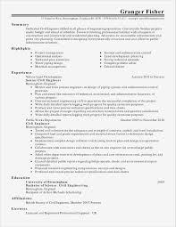 Civil Engineer Resume Best Of Civil Engineer Resume Sample Best