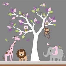 baby room wall decor nursery jungle wall decal tree