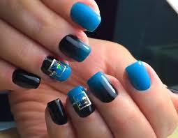 Blue Gel Polish 61 Fotografií Design Nehtů V Tmavě Modré Matné