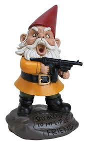 com bigmouth inc angry little gnome angry gnome statue 9 5 inches tall weatherproof garden decoration outdoor statues garden outdoor