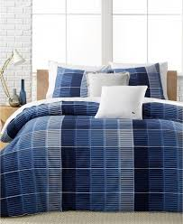 details about lacoste home blue albe cotton twin twin xl duvet cover navy bedding 250 i655