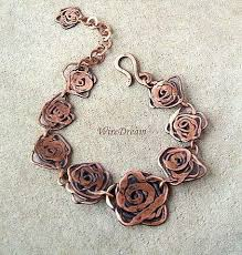 Copper Bracelet  made of copper wire made by hand possible to ...