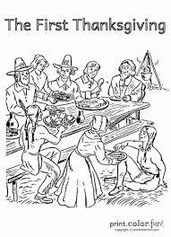 Kids who print and color sheets and pictures, generally acquire and use knowledge more. 11 Free First Thanksgiving Coloring Pages With Pilgrims And Native Americans Print Color Fun