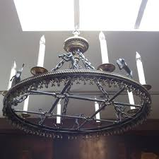 this wonderful chandelier was produced by maitland smith some years ago and displays fantastic