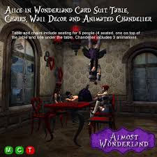 alice in wonderland card suit table chairs and accessories mesh furniture