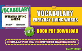 Vocabulary Everyday Living Words Pdf Download Free