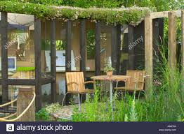 outdoor office space. Hampton Court Flower Show 2003 Outdoor Office Space Showing Well Designed Use Of Seating Area Living