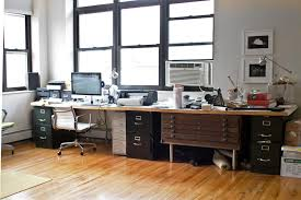 image of two person desk diy