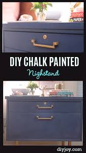 ideas to paint furniture. DIY Chalk Paint Furniture Ideas With Step By Tutorials - Painted Nightstand Makeover To