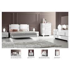 Mirror Bedroom Set Status Caprice Bedroom Set White Bed Nightstand Dresser And