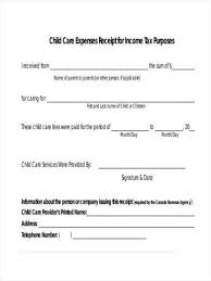 Free 11 Daycare Receipt Samples And Templates In Pdf Word