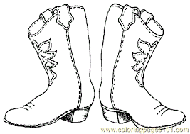 Free Cowboy Boot Outline Coloring Pages Cowboy Coloring Page 001