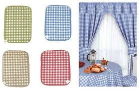 gingham kitchen curtains