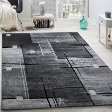 geometric rug mottled black 001