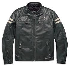 harley davidson throwback leather riding jacket