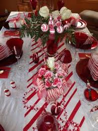 Candy Cane Table Decorations Candy Cane Winter Wonderland Party Ideas Supplies Decor 18