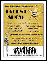 Talent Show Flyer DistrictWideTalentShowFlyer Elmira High School 2