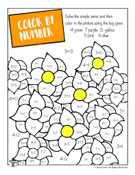 Spring Math Coloring Page Woo Jr Kids Activities