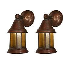 arts crafts lantern sconce pair antique lighting