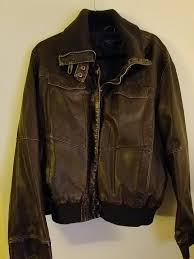 faded glory mens brown 4 pocket faux leather er coat size 2x 18 20