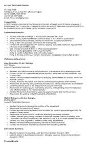 Sample Resume For Accounts Receivable Clerk Zromtk Enchanting Accounts Receivable Resume