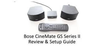 bose gs series 2. bose cinemate gs series ii speakers review \u0026 setup guide (2013) gs 2 o