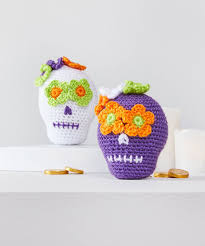 sweet crochet sugar skulls