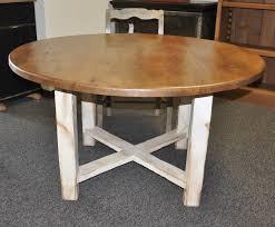 custom pine round x base 4 legged table