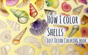 Lost Ocean Coloring Book Johanna Basford | Shell and Conch - YouTube