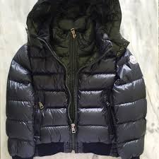 Genuine Moncler Down Jacket, Babies   Kids, Boy s Apparel on Carousell